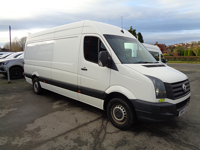 Volkswagen Crafter CR35 TDI LWB Van,  135PS, White, 2014, 64 reg
