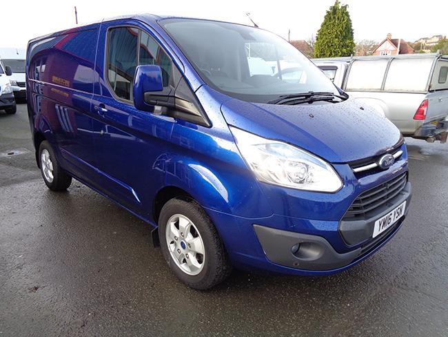 Ford Transit Custom L1, H1, 125PS Limited Van, Blue, 2016, 16 reg