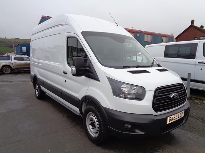 Ford Transit 350, 2.0 TD, 130PS, L3 H3 Van, White, 2018, 68 reg