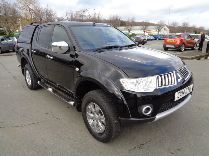 Mitsubishi L200 Trojan Double cab Pickup,2.5TD, Black with colour coded canopy, 2014, 14 reg,