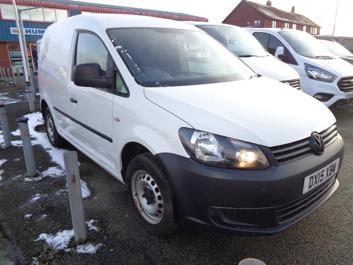 Volkswagen Caddy C20 Startline Van, White, 2015, 15 reg, Rear seat fitted,