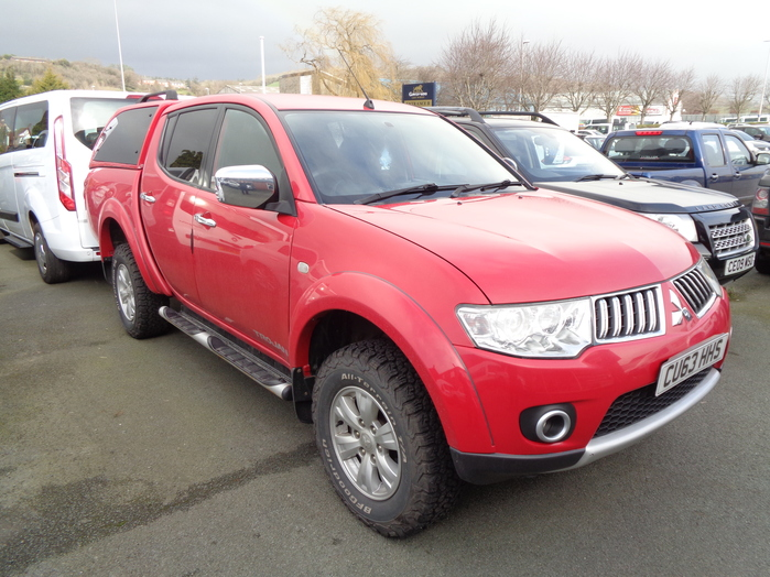 Mitsubishi L200 Trojan, 2.5TD, Double cab Pickup, Red with Colour coded Canopy, 2013, 63 reg