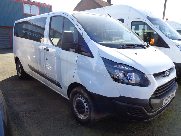 Ford Transit Custom 310 L2, 130PS Kombi Van, White, 2017, 17 reg,
