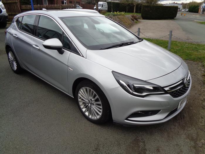 Vauxhall Astra 1.6 CDTI 160PS Elite Nav, 5 door, Silver, 2017, 17 reg,