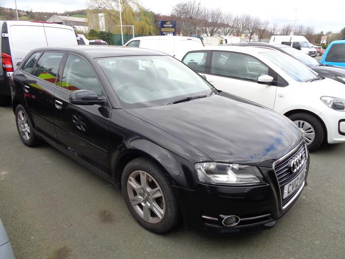 Audi A3 1.6 TDI SE, 5 Door, Black, 2012, 12 reg,