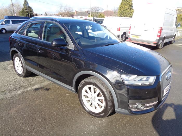 Audi Q3 SE 2.0 TDI, 5 Door, Black, 2012, 62 reg,
