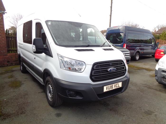 Ford Transit 350 Econetic 2.2 TD, Crew Van, 7 seats, White, 2016, 16 reg,