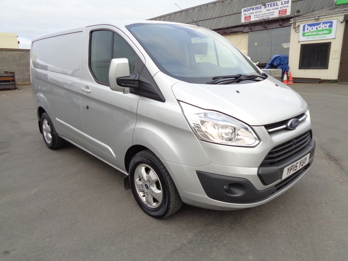Ford Transit Custom 270 L1 Limited 125 PS Van, Silver, 2015, 15 reg,
