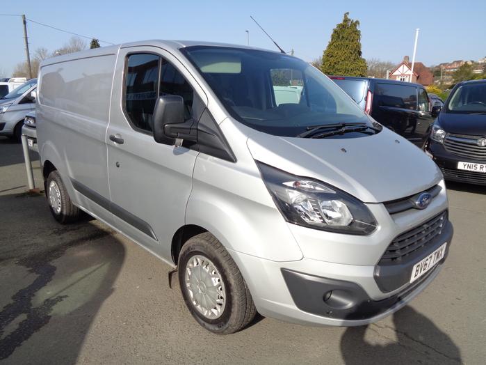 Ford Transit Custom 290, L1 105PS Van, Silver, Air con, rear sensors, 2017, 67 reg,