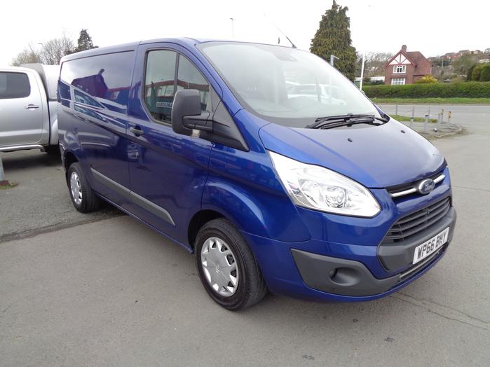 Ford Transit Custom 290 L1, 130PS Trend Van, Blue, 2016, 66 reg,