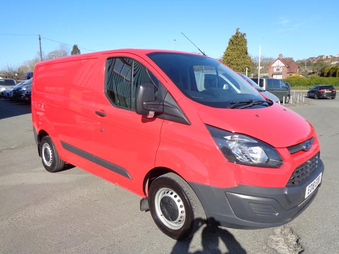 Ford Transit Custom L1, 270, 130PS Van, Red, 2018, 18 reg,