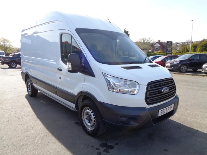 Ford Transit 350 L3, H3 125PS Van, White, 2017, 17 reg