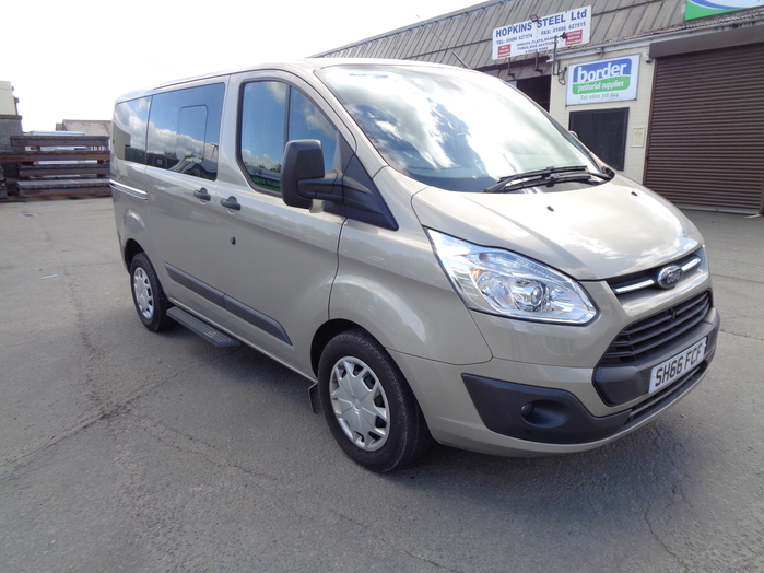 Ford Transit Tourneo Custom 5 Seat WAV with Tailgate, Air con, rear sensors. Ideal camper conversion