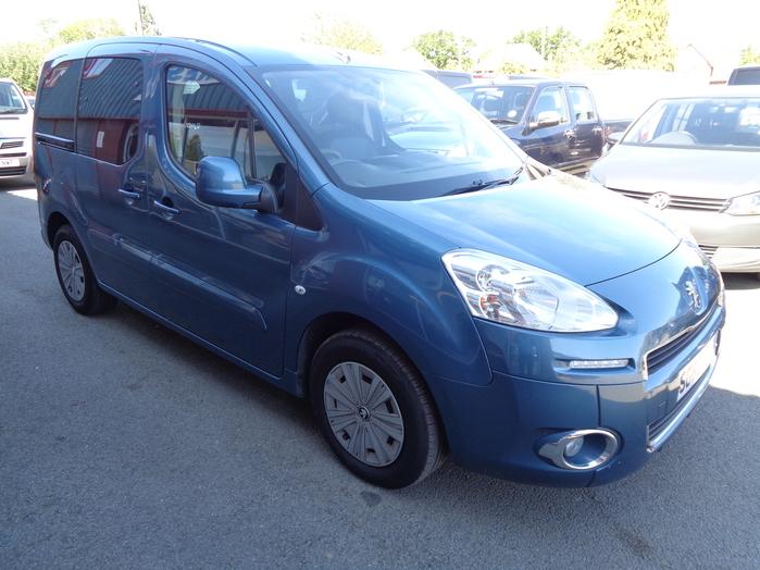 Peugeot Partner Horizon 1.6 TD, x Air con, 5 Seats, Wheel chair access vehicle, Blue, 2013, 63 reg,