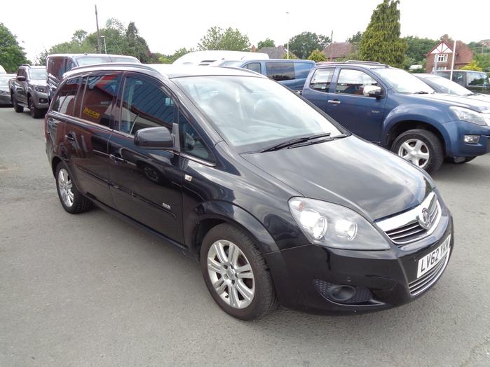 Vauxhall Zafira 1.7 CDTI ECOFLEX NAV, 5 Door, 7 seats, Black, 2012, 62 reg,