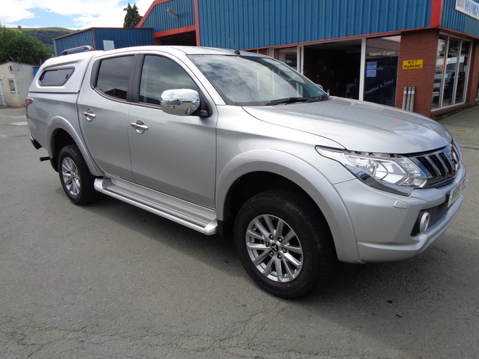 Mitsubishi L200 Barbarian Double cab Pickup, Automatic, Silver with colour coded Canopy, 2019, 19 reg,