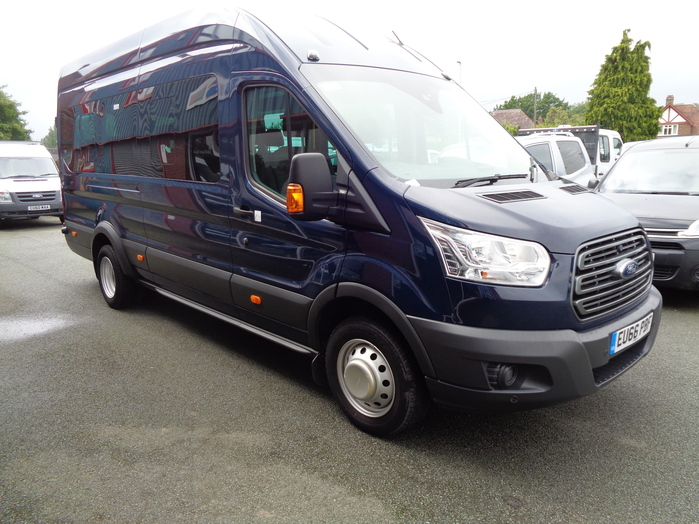 Ford Transit 460 L4, 17 Seat Mini Bus, 2016, 66 reg, Tachograph, Air con ,Luggage racks