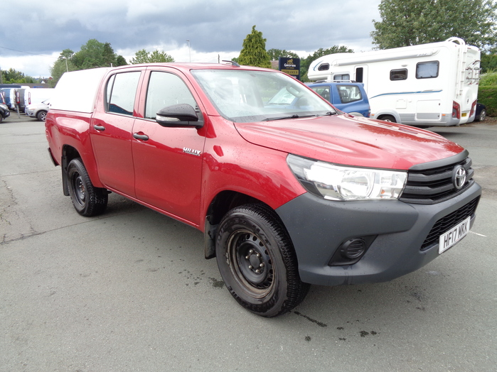 Toyota Hilux Active D4D 4 WD, Double cab Pickup, Red, Canopy fitted, 2017, 17 reg,