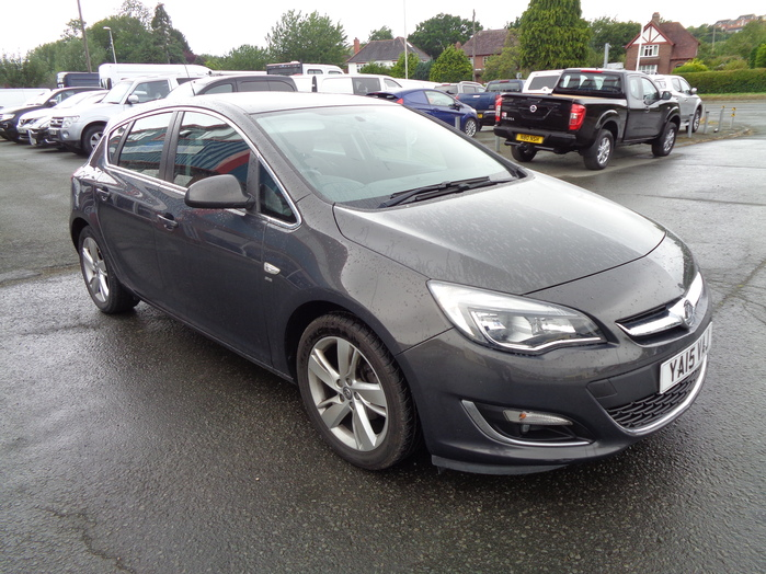 Vauxhall Astra 1.6 115ps, SRI, 5 Door, Grey,  2015, 15 reg,