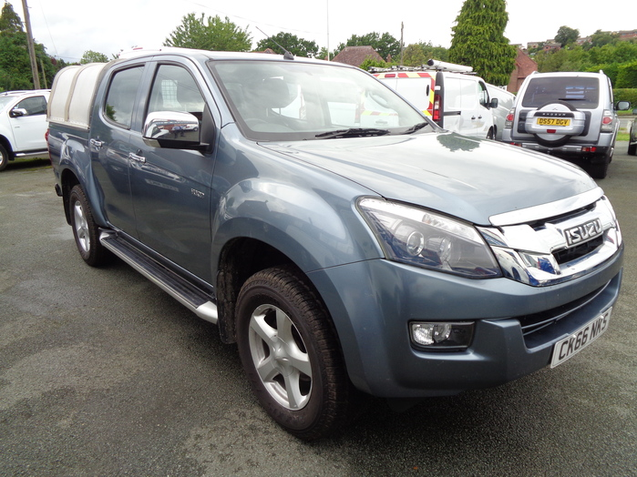 Isuzu D MAX Yukon Double cab Pickup, Grey with Aluminium canopy, 2016, 66 reg,
