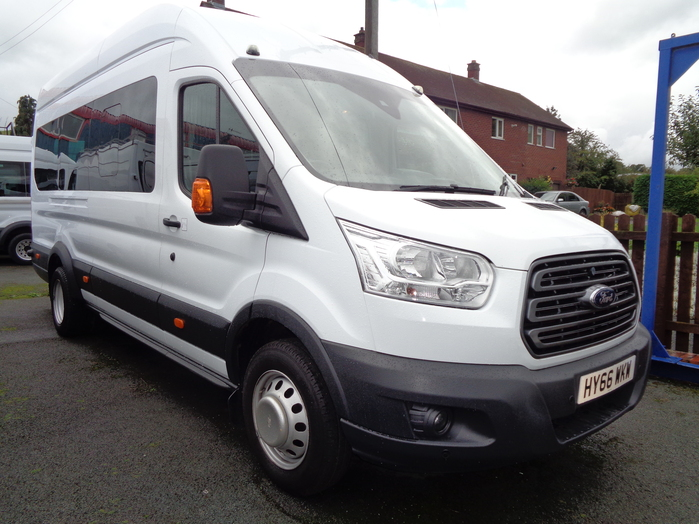 Ford Transit 460 Trend 17 Seat Mini bus, White, 2016, 66 reg,