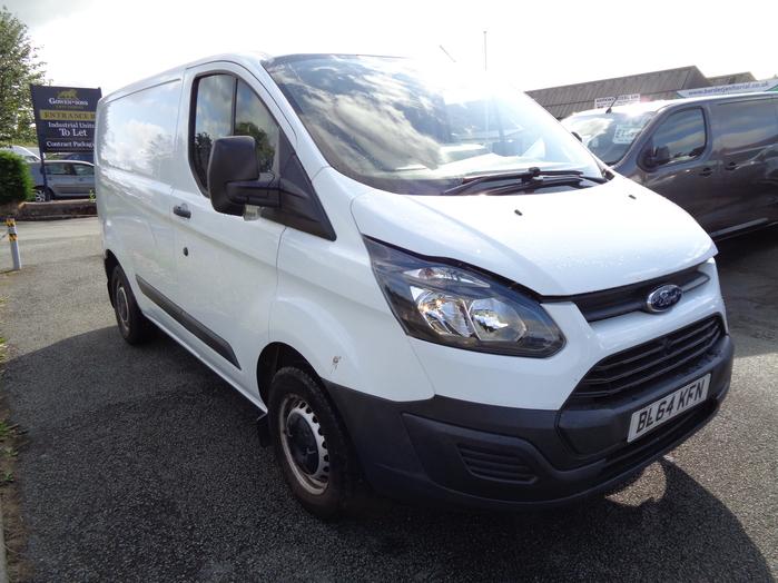 Ford Transit Custom 2.2TD, 100PS, 290, L1, H1 Van, White, 2014, 64 reg,