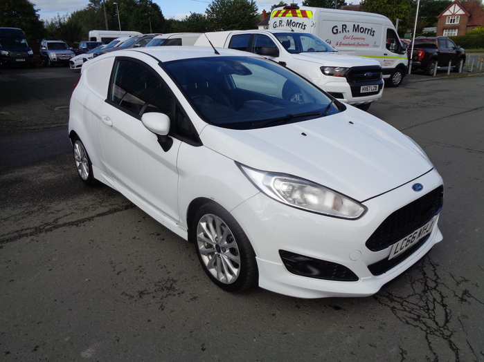 Ford Fiesta 1.5 TDCI Sport Van, White, 2016, 66 reg, Drawer system fitted in rear