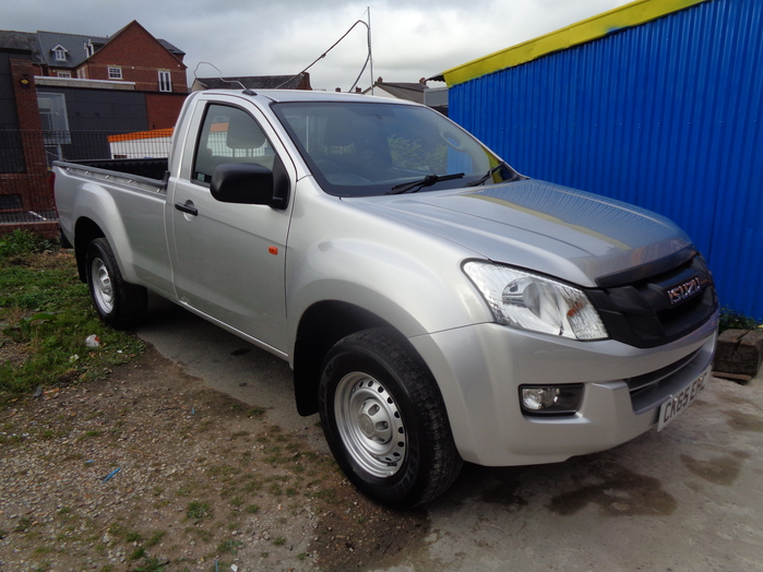 Isuzu D Max 2.5 TD Single cab Pickup, Silver, 2015, 65 reg,