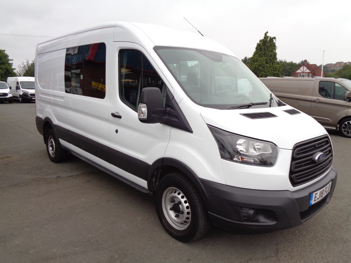 Ford Transit 350 L3 H2 6 Seat Crew Van, White, 2018,18 reg,