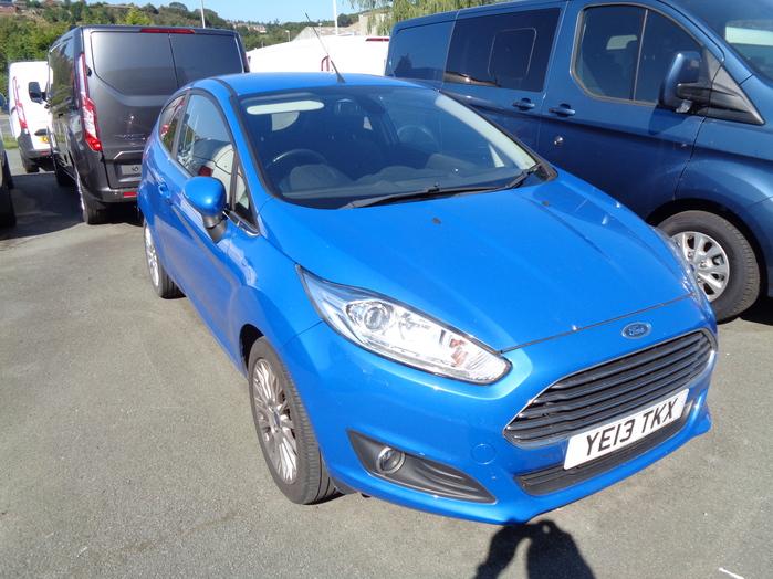 Ford Fiesta 1.0 Ecoboost  100PS,Titanium 3 Door, Blue, 2013, 13 reg,