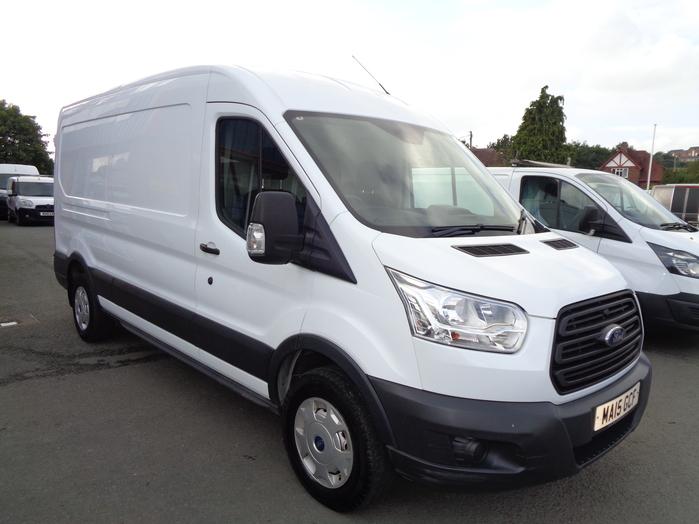 Ford Transit 350 L3, H2, 125PS Van, White, 2015, 15 reg,