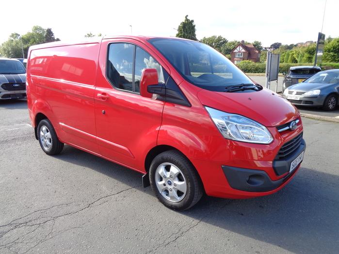 Ford Transit Custom Limited, L1 H1 Van, Red, 2016, 16 reg,