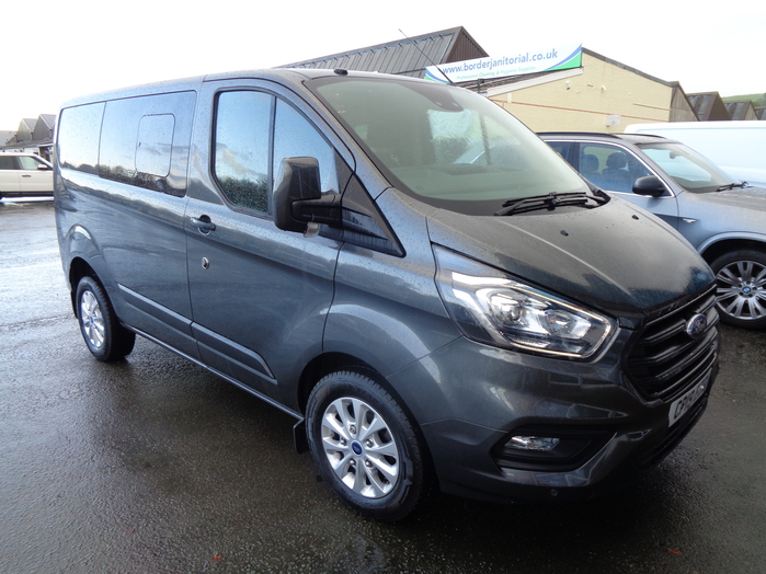 Ford Transit Custom 2.0TDCI Trend Double cab Van, Alloy wheels, front and rear sensors fitted, Grey, 2019, 19 reg,