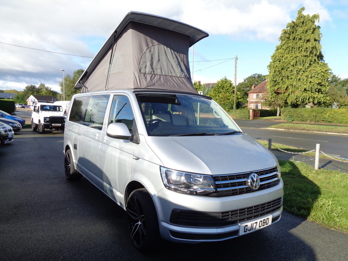 Volkswagen Transporter 2.0 TDI, Manual, camper van, Popup roof, Silver, 2017, 17 reg,