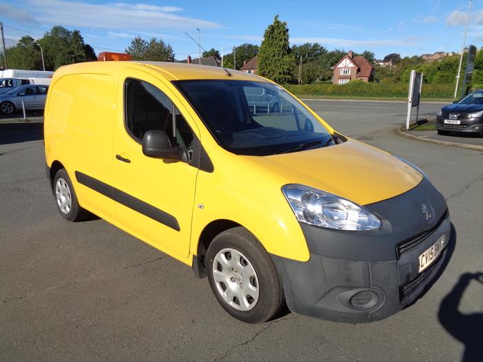 Peugeot Partner 1.6 HDI 75, 625, SE Van, Yellow, 2015, 15 reg,