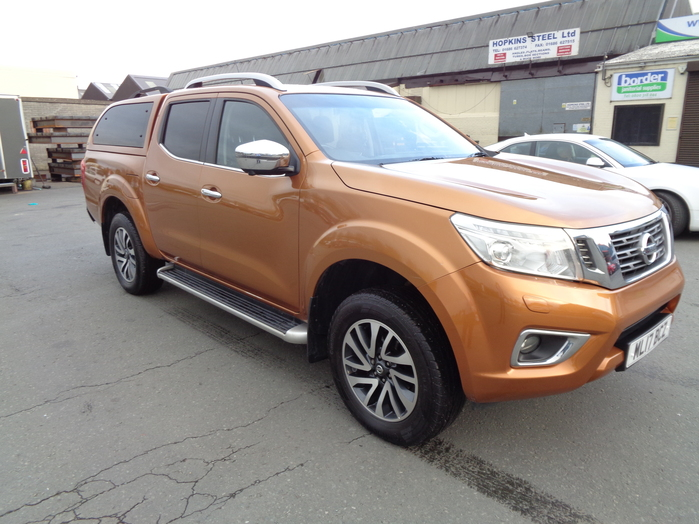 Nissan Navara NP300 Tekna Automatic Double cab Pickup, Yellow with colour coded Canopy, 2017, 17 reg,