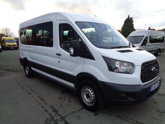 Ford Transit 410 Econetic 15 Seat Minibus, White, 2017, 67 reg,