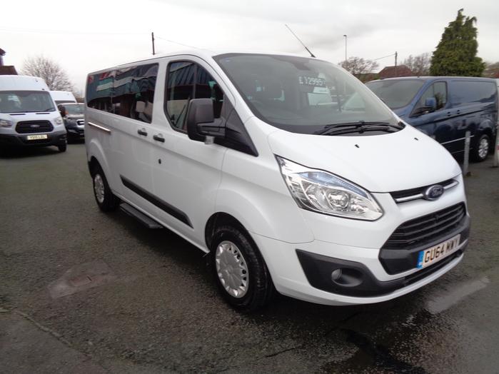 Ford Transit Tourneo L2 Custom, 2.2 TDCI, 9 Seat, White, 2014, 64 reg,