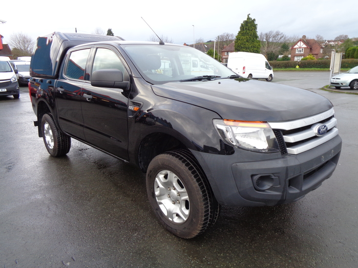 Ford Ranger 2.2 TDI, XL Double cab Pickup, Black with colour coded Canopy, 2014,